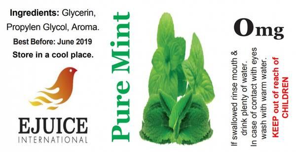 Bilde av Ejuice International - Pure Mint, Ejuice 40/60ml