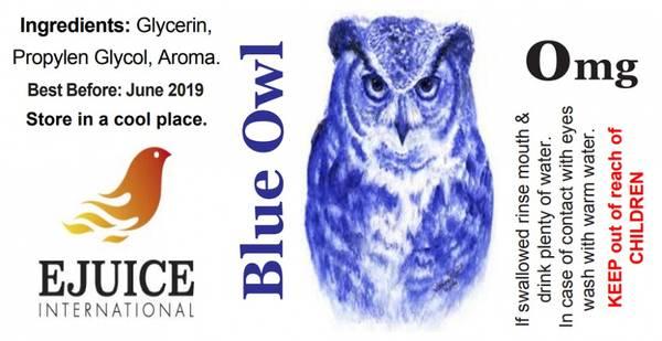 Bilde av Ejuice International - Blue Owl, Ejuice 40/60 ml
